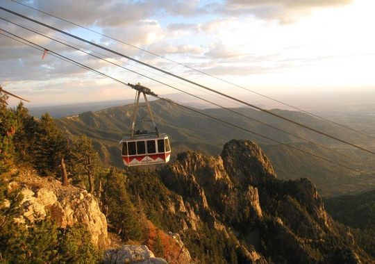 Albuquerque, NM tram up Sandia mountain.  Will never forget this.  My brother wandered off from us while we were on the mountain.