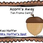Free acorn ten frame activity!Math Center, Fall Center, Ten Frames, Acorn Fall, Acorn Bottom, Frames Acorn, Acorn Lids, Response Sheet, Numbers Acorn