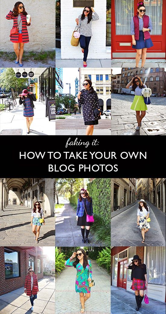 A Picture is Worth a Thousand Words: Blog Photography Tips and tricks for taking your own blog outfit/fashion photos - no photographer needed!