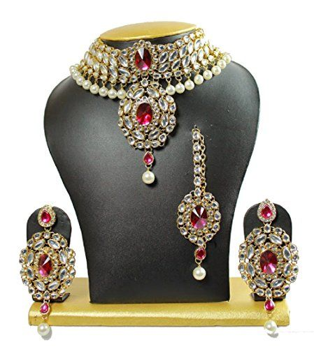 Most Bollywood Style Red Stones CZ White Pearls Indian Ne... https://www.amazon.com/dp/B01J5PXYIA/ref=cm_sw_r_pi_dp_x_hqpWybK9MR2NS