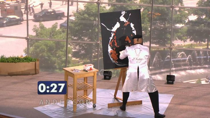 "Master speed-painter D. Westry shows off his creative skills during the ""Anderson's Viewers Got Talent"" competition. Subscribe to our channel:http://www.yout..."