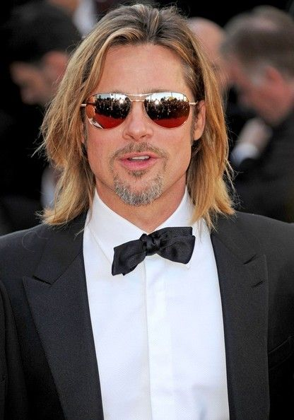 "Brad Pitt in Tom Ford 'William' gold mirrored aviators at ""Killing Them Softly"" Premieres in Cannes"