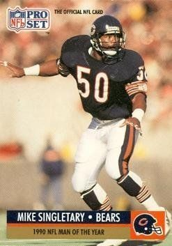 Mike Singletary Football Card (Chicago Bears) 1991 Pro Set #5 by Hall of Fame Memorabilia. $30.95. Mike Singletary Football Card (Chicago Bears) 1991 Pro Set #5. Signed items come fully certified with Certificate of Authenticity and tamper-evident hologram.