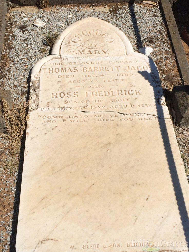 Thomas Barrett Jago | Billion Graves Headstone, Cemetery, and Grave Record | Echuca, Victoria, Australia 13760971