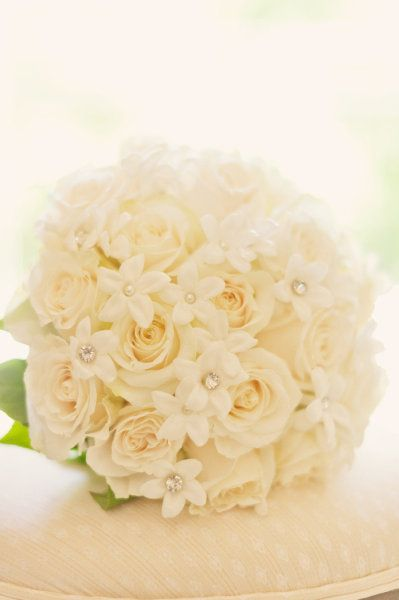elegant embellished stephanotis and roses
