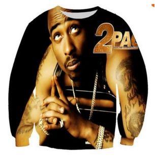 2017 New 2pac rap singer hip hop sweatshirt 3d print women/mens pullover male hooded long sleeve T shirts hoodie boy clothing