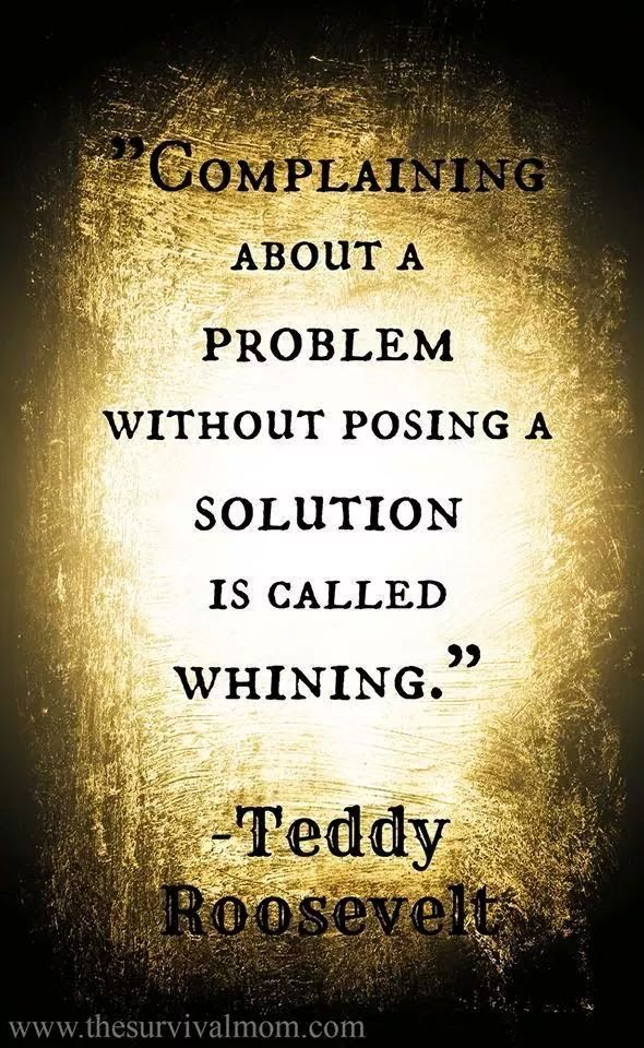 Yes indeed. I don't even like complaining/whining to myself. I say self stop whining about it and find a solution.