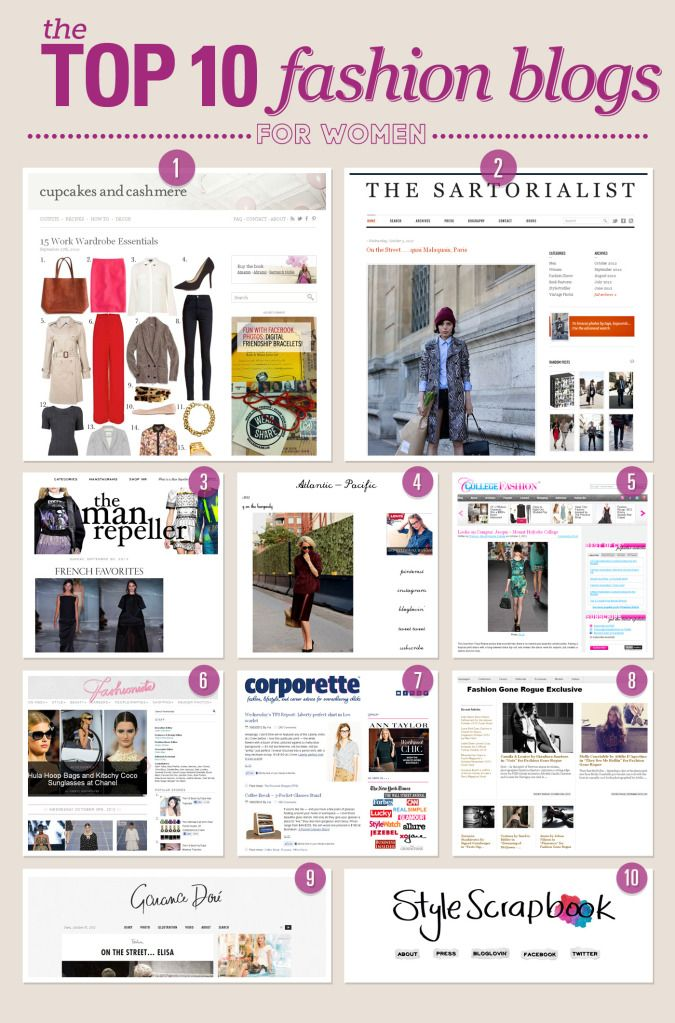 Top 10 Fashion Blogs for Women - I read Corporette literally every single day for work wear style