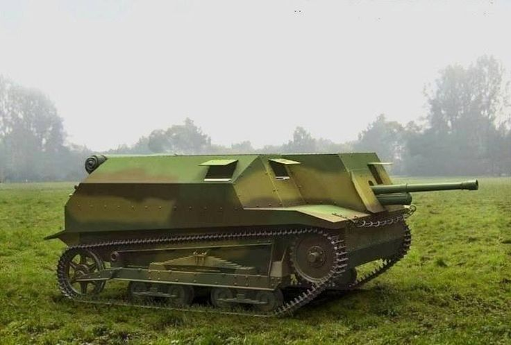 TKS-D – prototyp działa samobieżnego uzbrojonego w armatę ppanc. wz. 36 kal. 37 mm. Rys. Archiwum.