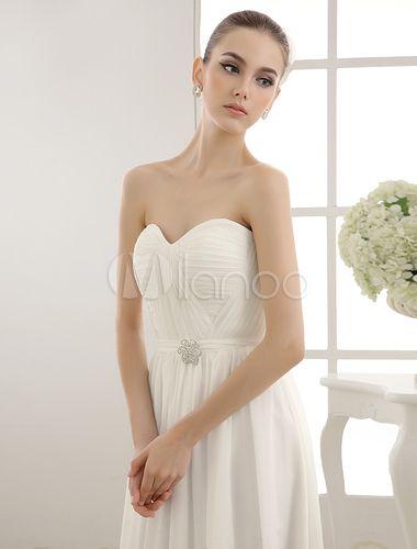 Senza spalline Abito da sposa con fascia