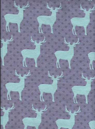 KNIT fabric: Deer cotton lycra fabric. Sold by the 1/2 yard by MyDarlingFabrics on Etsy