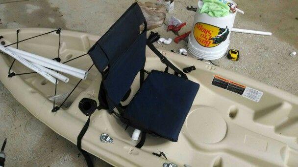 DIY Stadium seat and homemade kayak seat with pvc. Goodbye yak back!