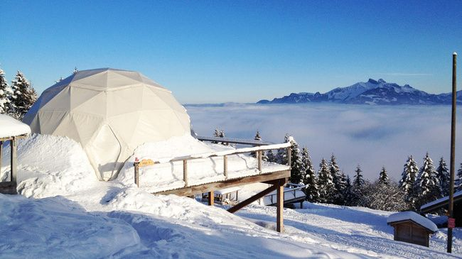 Whitepod - het ultimatieve luxeavontuur in de Zwitserse Alpen #travel