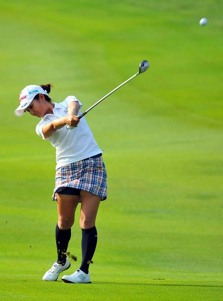 Ai Miyazato Photos Photos - Ai Miyazato of Japan plays her 2nd shot on the 3rd hole during day two of the Sime Darby LPGA Malaysia at Kuala Lumpur Golf & Country Club on October 11, 2013 in Kuala Lumpur, Malaysia. - Sime Darby LPGA Malaysia: Day 2