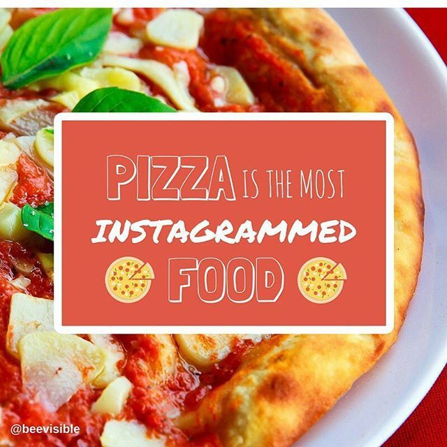 Did you know that pizza is the most Instagrammed food? Followed by Sushi, Steak, Burger, Bacon, Tacos, Donuts, Ramen, Curry, Hotdog. Yummy!