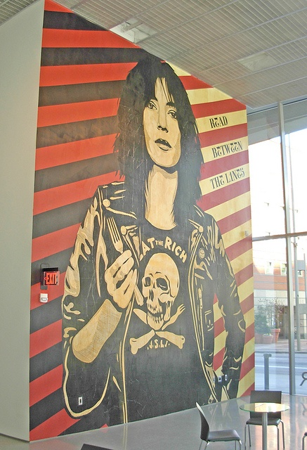Fairey mural at the CAC, Patti Smith