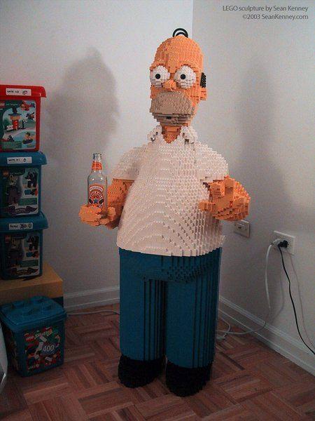 Homer Simpson - constructions #Lego les plus impressionnantes de l'histoire de la brique
