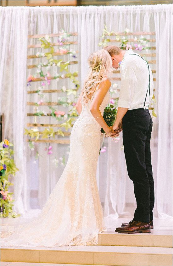 Use sheer Teresia curtains to make a dreamy backdrop. | 25 Clever Ways To Use Ikea Products At Your Wedding