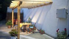 Crear estructura para pérgola de madera