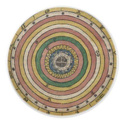 Ceramic Pull ft Ancient Zodiac Wheel - home gifts cool custom diy cyo