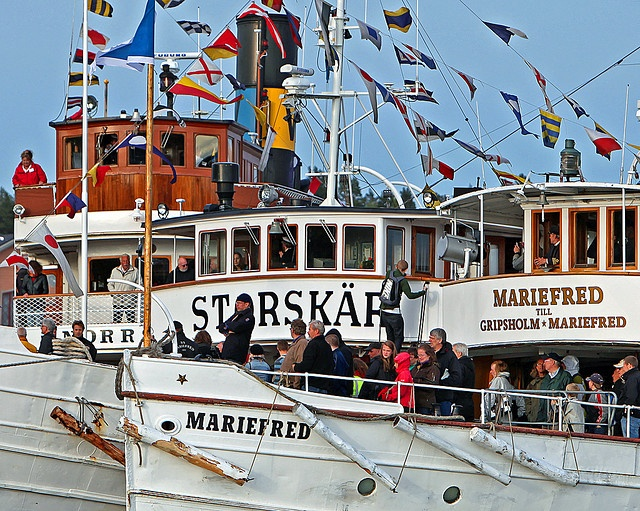 The Steamboat day, Skärgårdsbåtens dag, Vaxholm, Sweden by Bengt Nyman