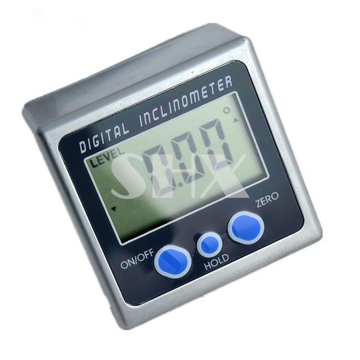 Bisel Caja Digital Inclinómetro del Prolongador Nivel Herramienta de Medición Electrónica Medidor de Ángulo Ángulo de Ángulo Buscador Base Magnética