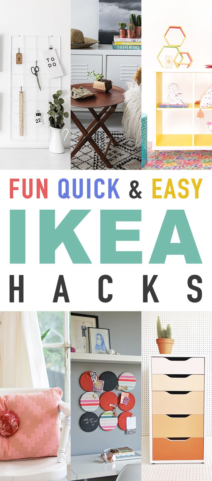 Hi there!  It is once again time for another Collection of some Fun Quick and Easy IKEA Hacks!  Who doesn't love them? We have all kinds of goodies to make you smile today…from an Ombre Dresser…to Fox Step Stool…something for everyone and everyone of these IKEA Hacks are going to make you SMILE!  So sit …