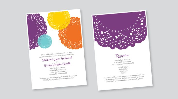 WEDDING INVITATION AND RECEPTION CARD > PRINT DESIGN | Graphic Design by Kelly Skinner of Friday Design + Photography.