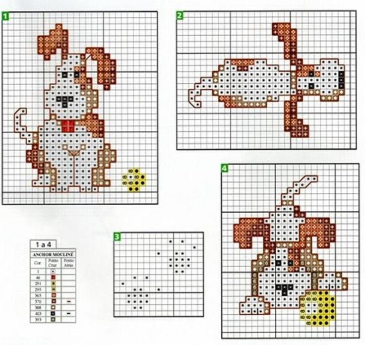 free cross stitch pattern: cute puppy