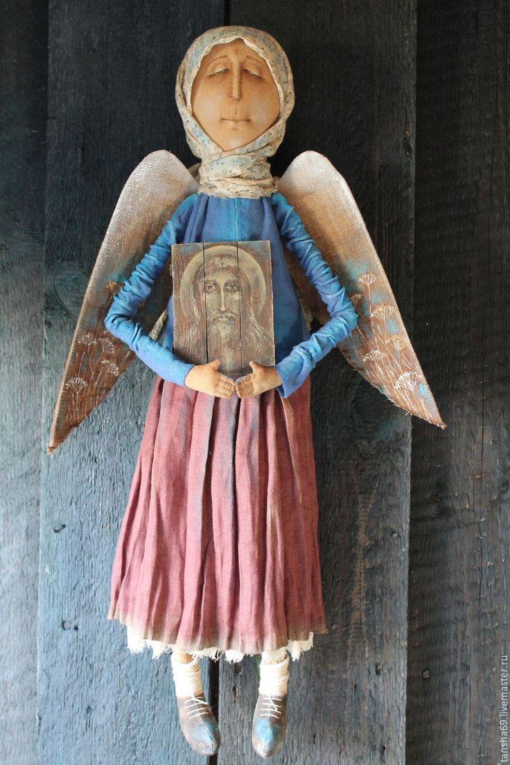 Купить На тебя уповаю... - комбинированный, текстильная кукла, ароматизированная кукла, интерьерная кукла, ангел