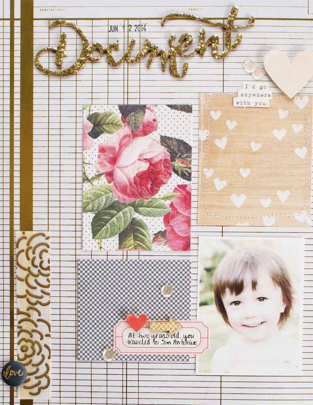 #Papercraft #scrapbook #layout. Document by Michelle Wedertz at @studio_calico