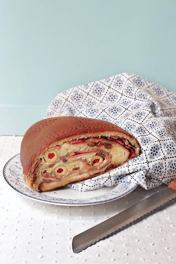 Pan de jamón y queso. Receta fácil