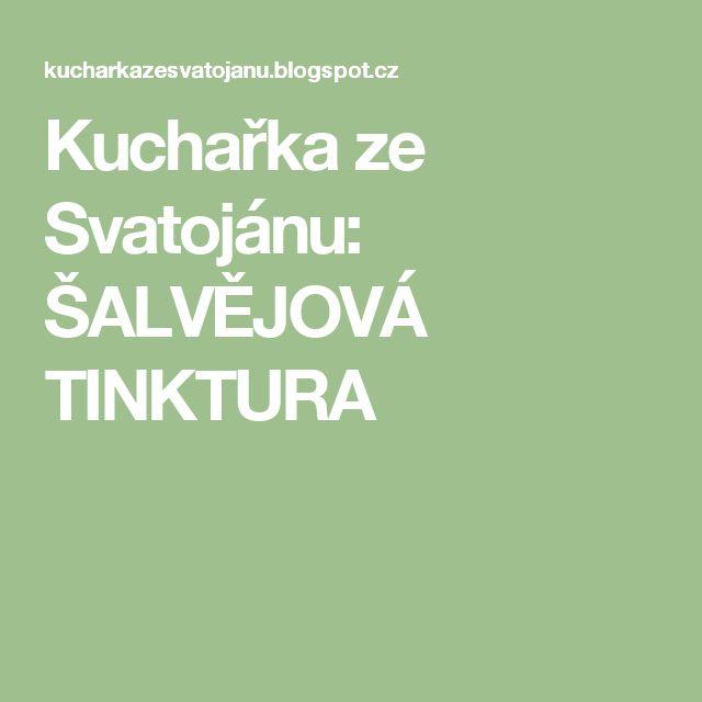Kuchařka ze Svatojánu: ŠALVĚJOVÁ TINKTURA