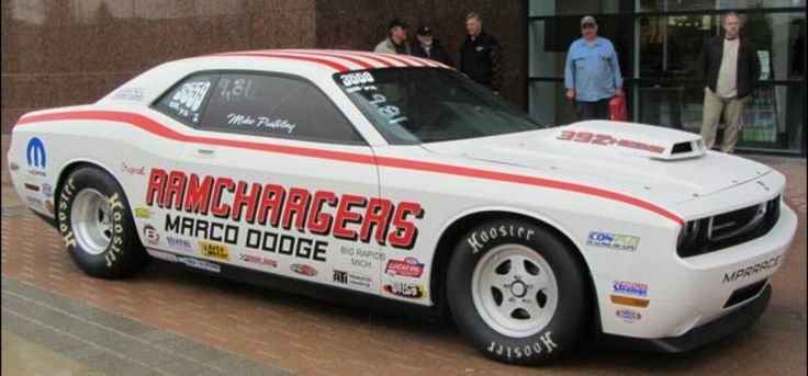 New Dodge Challenger HEMI Drag car RAMCHARGERS