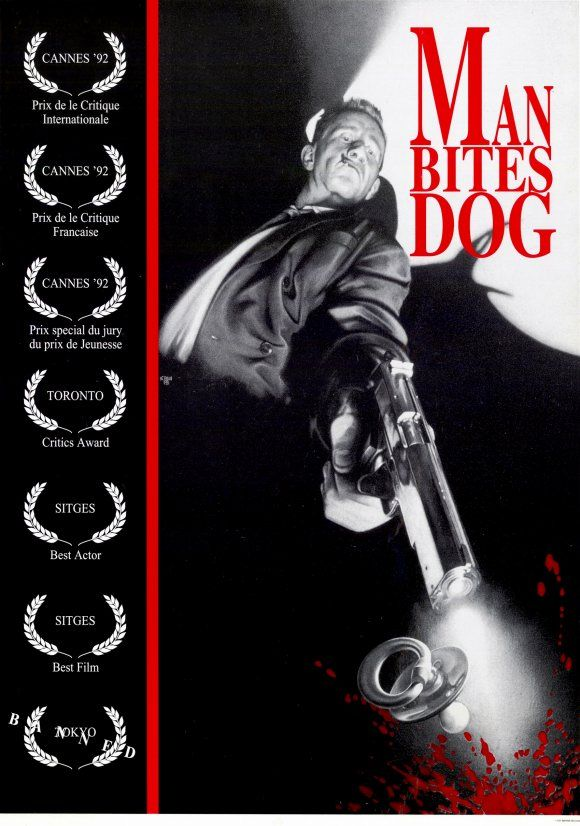 man bites dog..one of the best posters EVER
