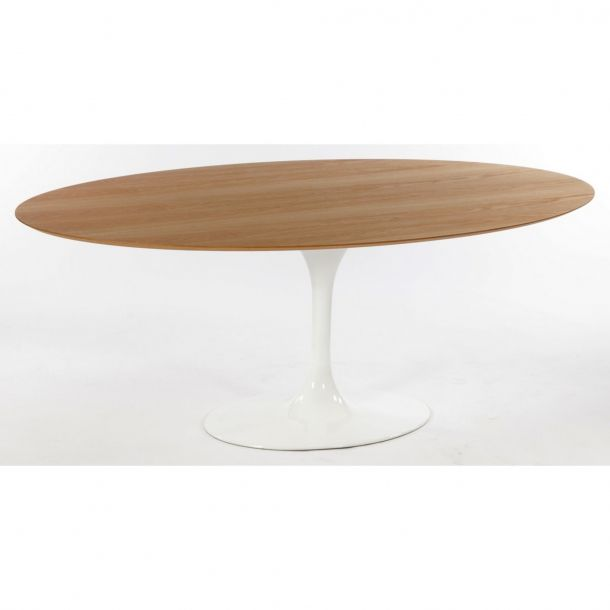 Tulip Oval Dining Table   Whiteoak