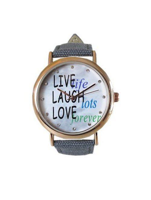 Ii place sa rada? Ia-i  cadou un ceas dama Crystal Blue - Live, Laugh, Love!