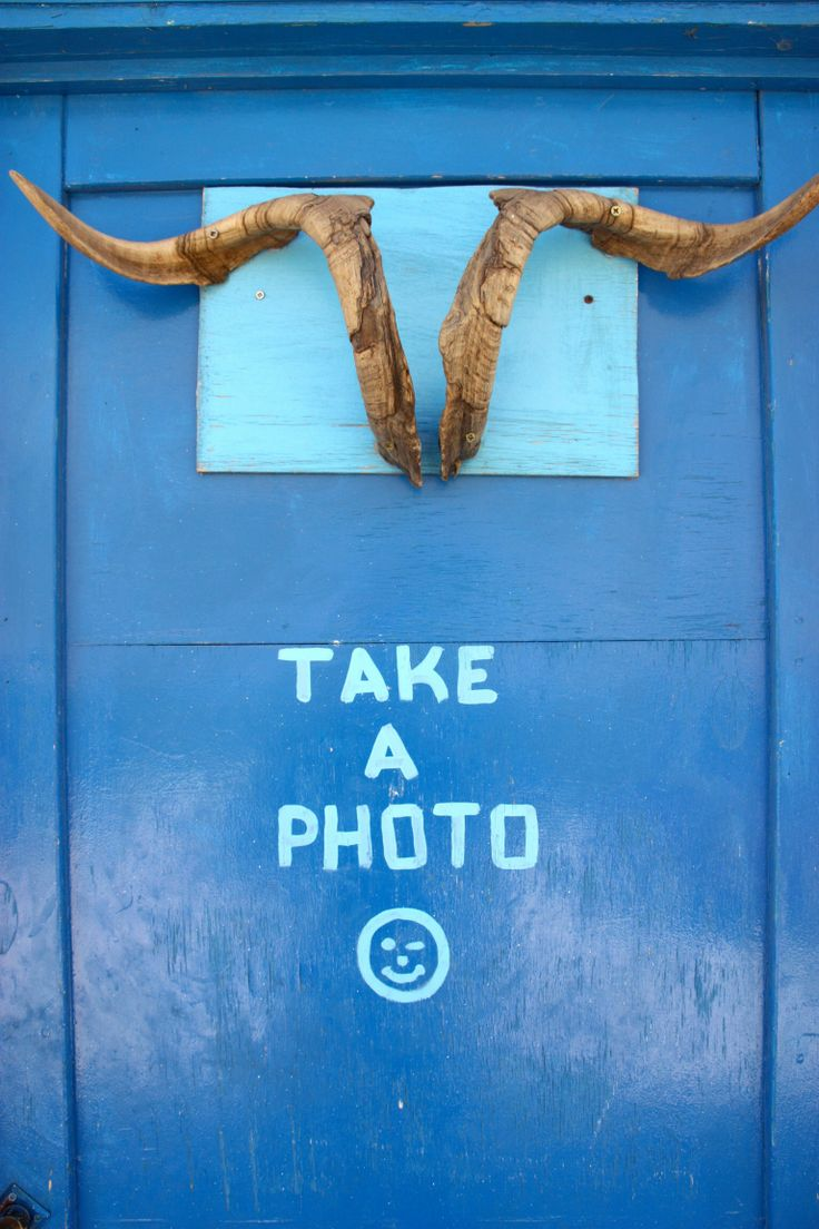 Take a photo....and stand under the horns
