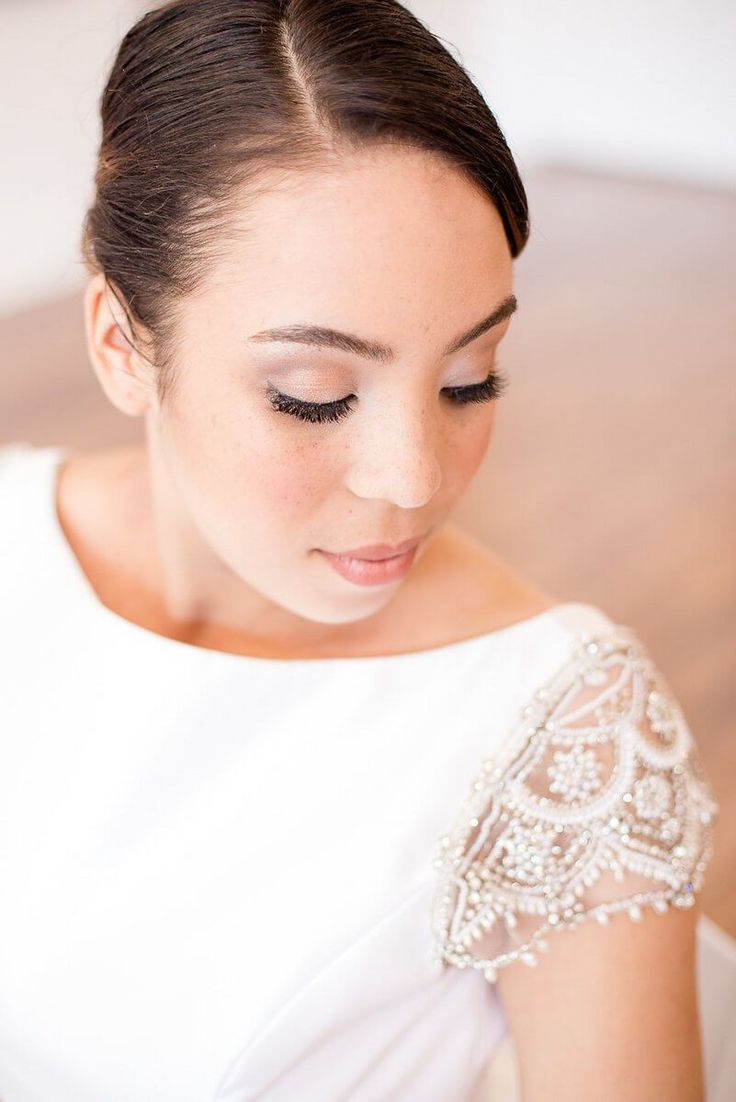 Artsy Glam Wedding Inspiration - natural minimal bridal makeup