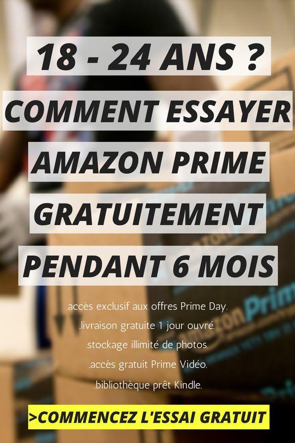 18 - 24 ans ? Vous pouvez essayer Amazon Prime GRATUITEMENT pendant 6 mois et profiter des toutes les offres exclusives du Prime Day Amazon (+ livraison 1 jour ouvré gratuite et d'autres avantages)