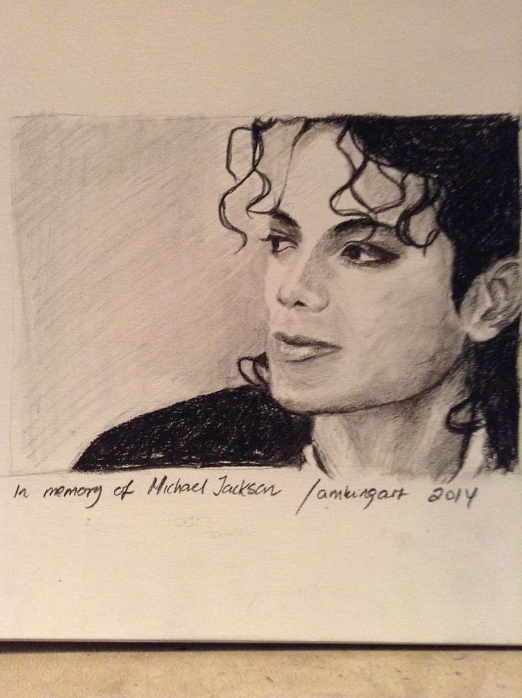 Michael Jackson in charcoal