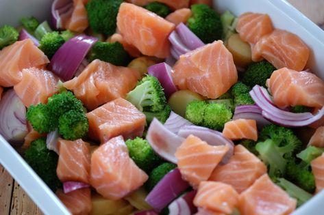 Denne retten med laks, brokkoli og poteter i form er ganske tradisjonell. Det kan være mer enn go...