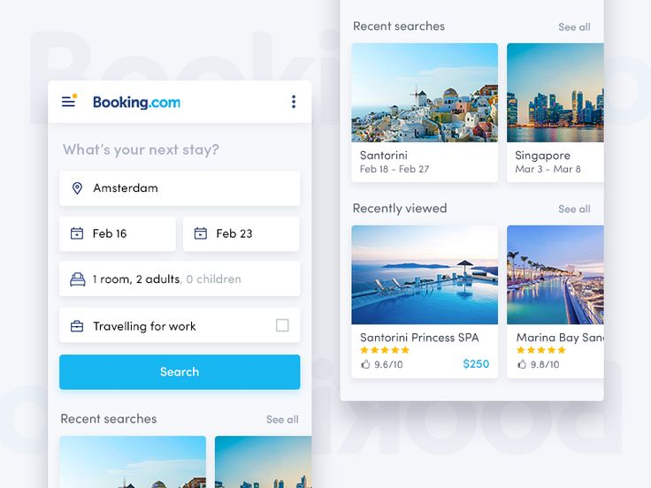 Booking redesign by Vitaly Silkin