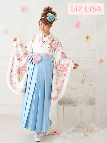 Graduation hakama set. I love the pastel tones!