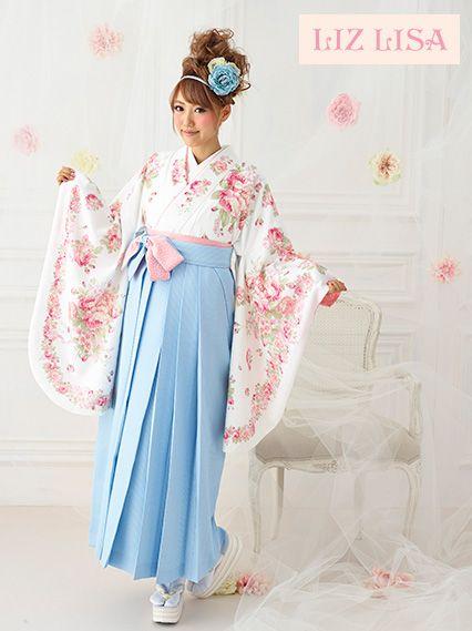 Graduation hakama set. I love the pastel tones!