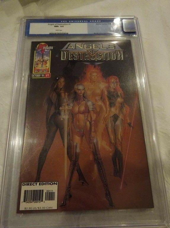 Angels of Destruction #1, Malibu Comics, CGC graded 9.6