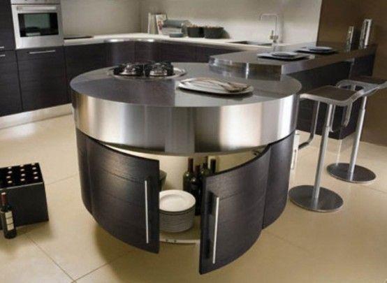 Mejores 10 imágenes de Circular Kitchen en Pinterest | Islas de ...