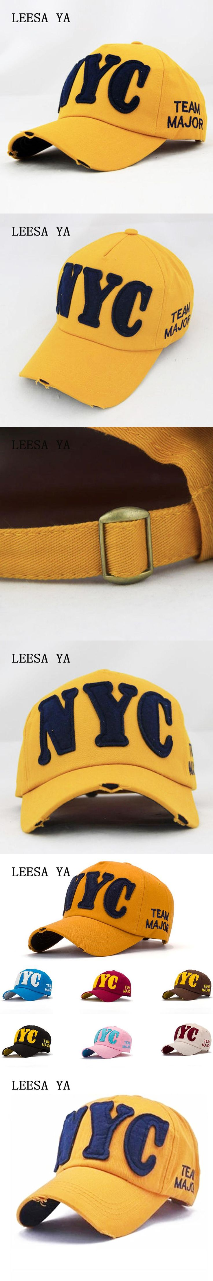Fashion Cotton New York Baseball Caps Men High Quality Snapback Caps Women Brand polo Hats Bone Gorro Fitted Visor Hats man