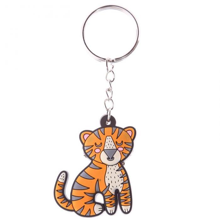 Klíčenka Zooniverse - Tygr - roztomilá klíčenka s přívěškem z PVC #klicenka #tygr #keychain #zooniverse