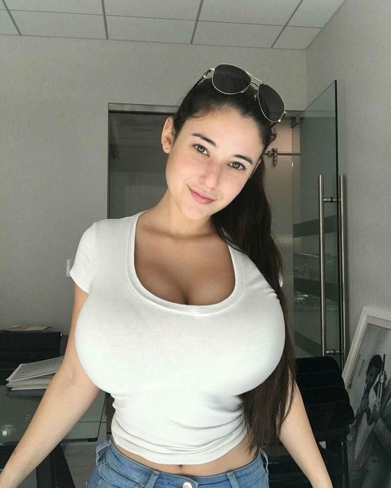 Busty Brunette Teen Plays With Tight Pussy